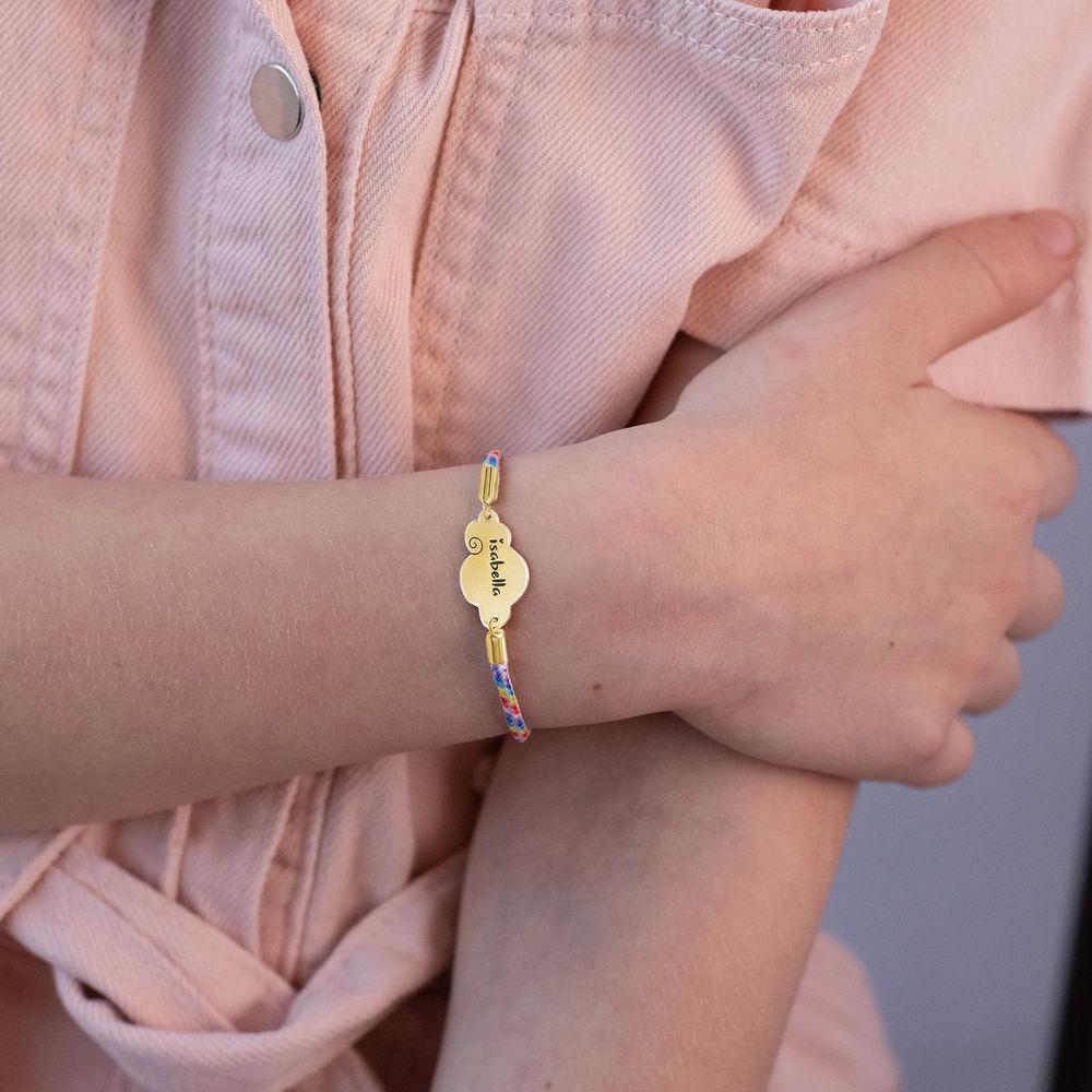 Bracelet cordon nuage en plaqué or - 4