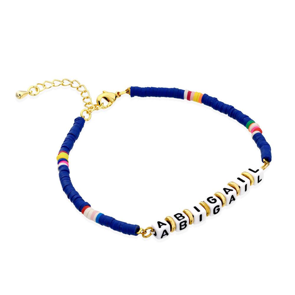 Bracelet de nom Royal Berry en argent sterling avec perles