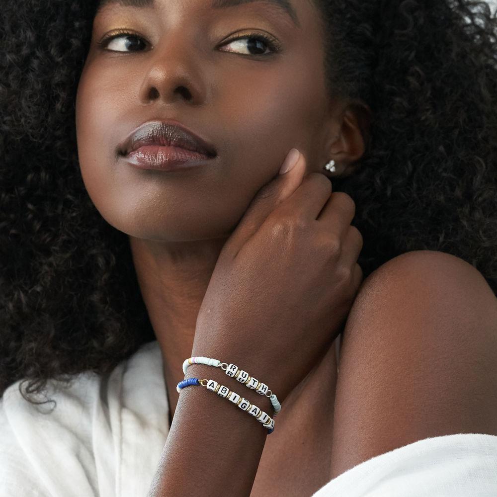 Bracelet de nom Royal Berry en argent sterling avec perles - 2