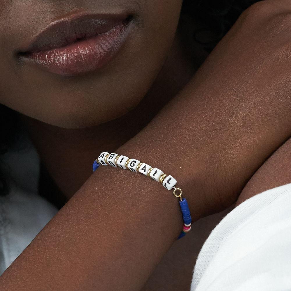 Bracelet de nom Royal Berry en argent sterling avec perles - 3
