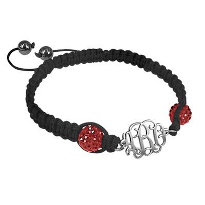 Bracelet Monogramme Cordon Personnalisé - 2