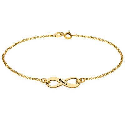 Bracelet Infini Gravé Plaqué Or 18cts - 1
