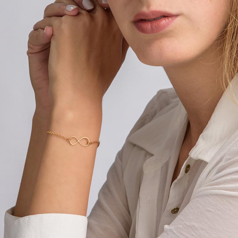 Bracelet Infini en plaqué or - 2