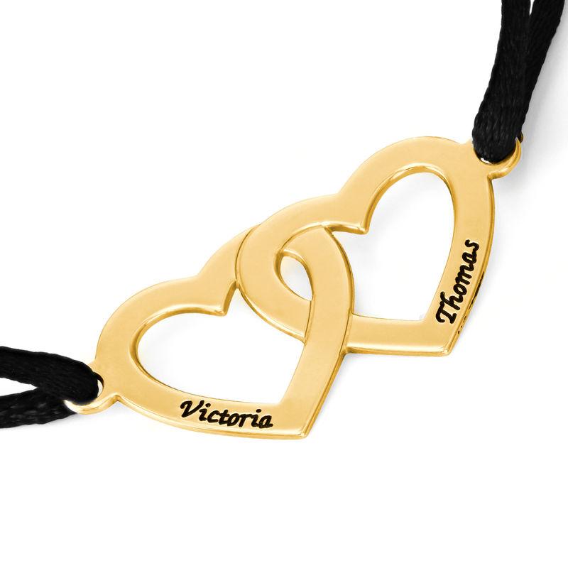 Bracelet Cœur pour Couple en Argent Plaqué Or 18ct - 1