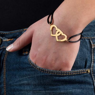 Bracelet Cœur pour Couple en Argent Plaqué Or 18ct - 2