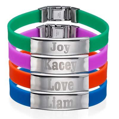 Bracelet personnalisé pour hommes en caoutchouc avec Boucle - 1