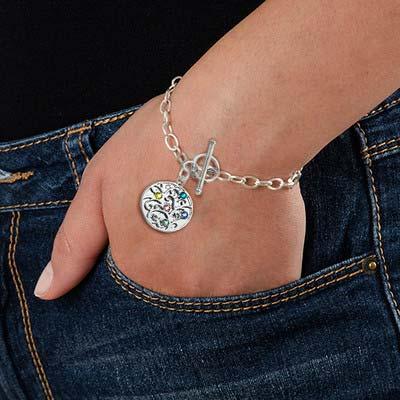 Bracelet Filigrane Arbre de Vie Et Pierres de Naissance - 2
