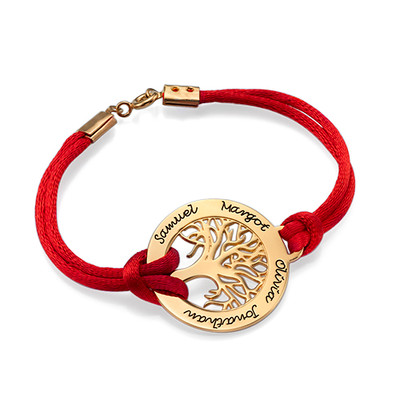 Bracelet Arbre de Vie en Plaqué Or 18Ct