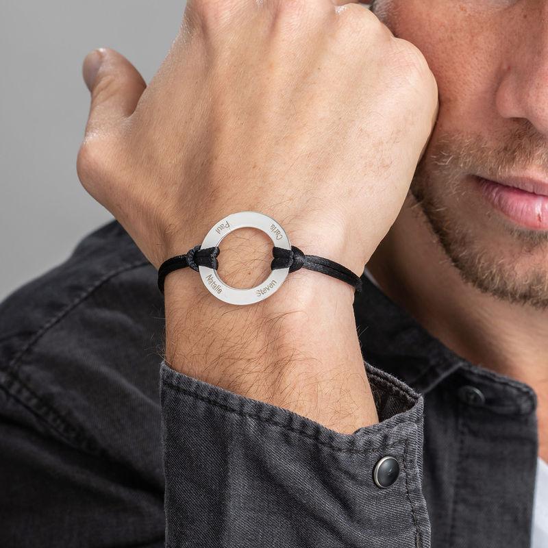 Bracelet Cercle Gravé en Argent - 3