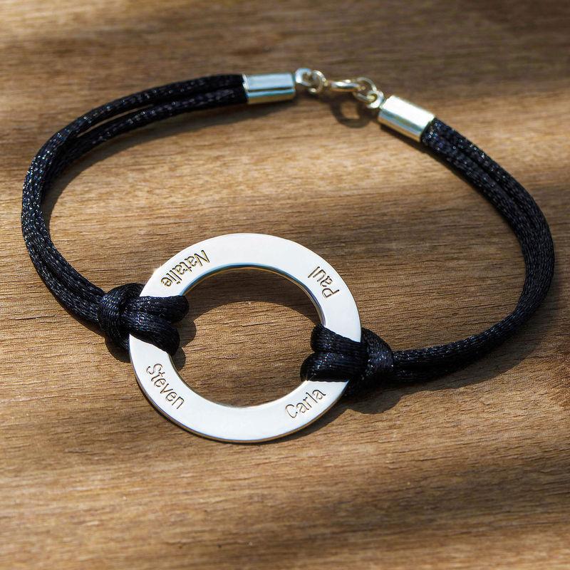 Bracelet Cercle Gravé en Argent - 4
