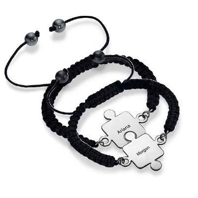 Bracelet Puzzle Meilleurs Amis en Argent