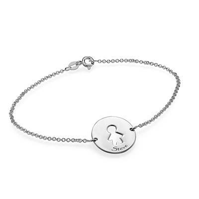 Bracelet Prédécoupé pour Enfants en Argent - 3
