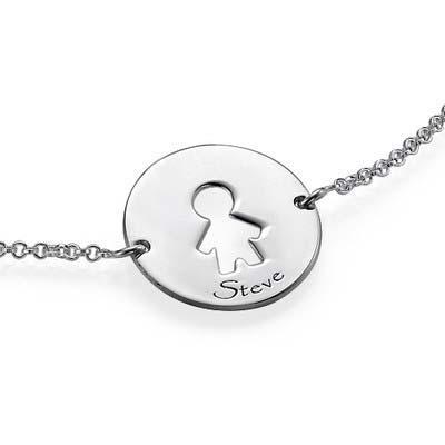 Bracelet Prédécoupé pour Enfants en Argent - 5