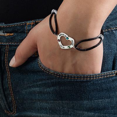 Bracelet cœur avec pierres de naissance - 2