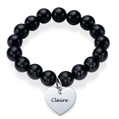 Bracelet de Perles Pendentif Coeur