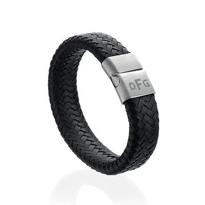 Large Bracelet Homme en cuir tressé personnalisé - 1