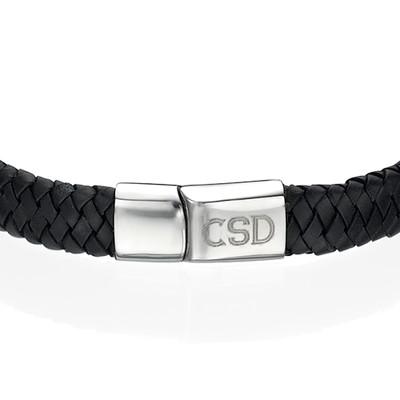 Bracelet Homme en cuir tressé personnalisé - 1