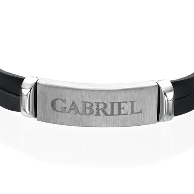 Bracelet Homme cuir personnalisé prénom - 2