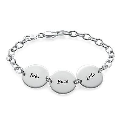 Cadeau Spécial Maman- Bracelet Disque Prénom