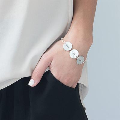 Cadeau Spécial Maman- Bracelet Disque Prénom - 2