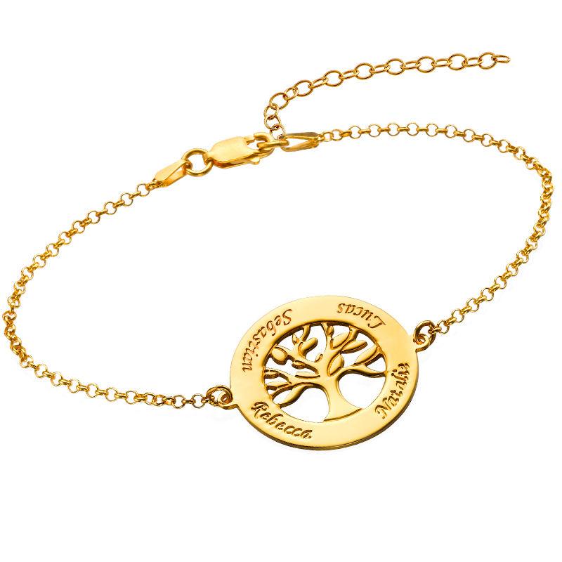 Bracelet Arbre Généalogique Gravé en Vermeil d'Or