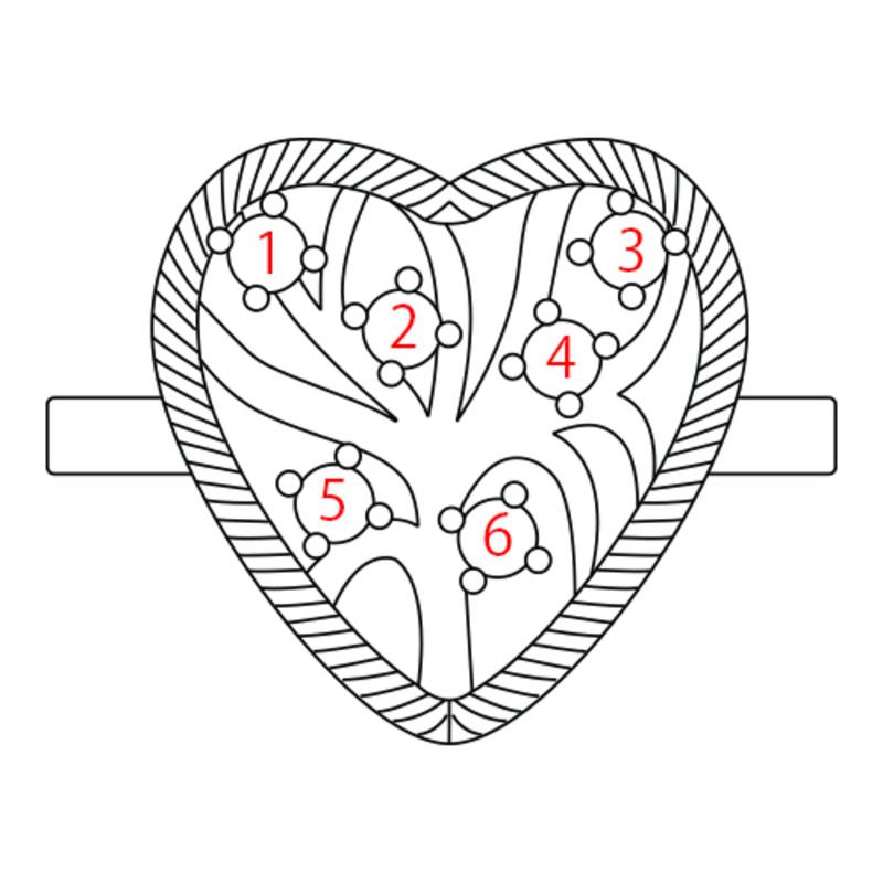 Bague Coeur Arbre de Vie en Plaqué Or - 4