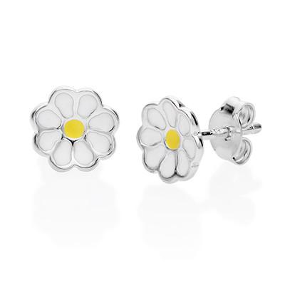 Boucles d'Oreilles Fleur Marguerite pour Enfants
