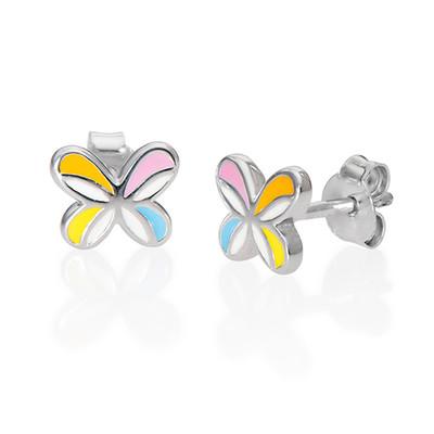 Boucles d'Oreilles Papillon colorées