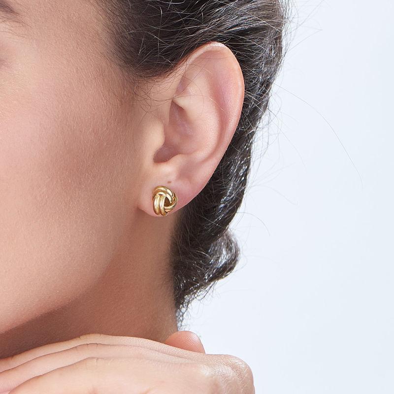 Boucles d'oreilles Love Knot en plaqué or - 1