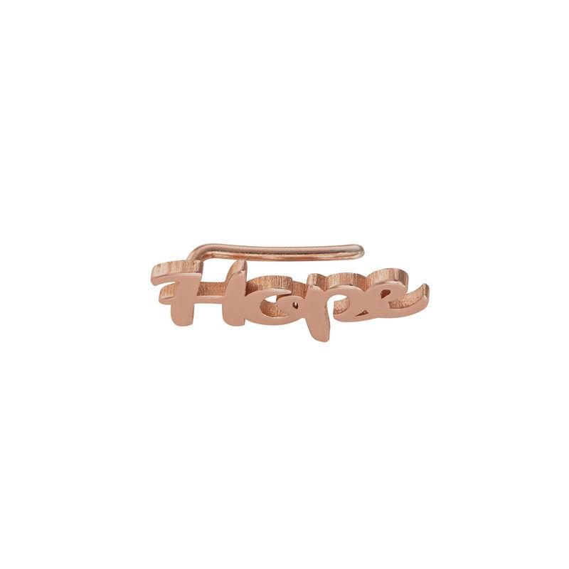 Boucles d'oreilles montantes personnalisées en plaqué or rose 18 carats - 1
