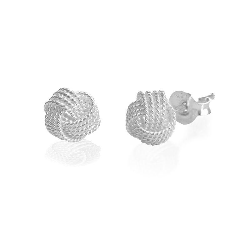 Boucles d'oreilles nœud en argent