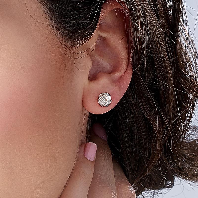 Boucles d'oreilles nœud en argent - 2