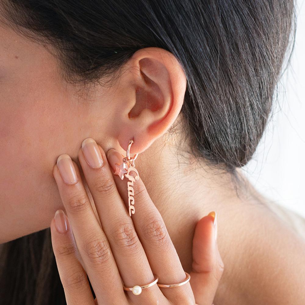 Boucles d'oreilles Siena en Plaqué Or Rose 18K - 1