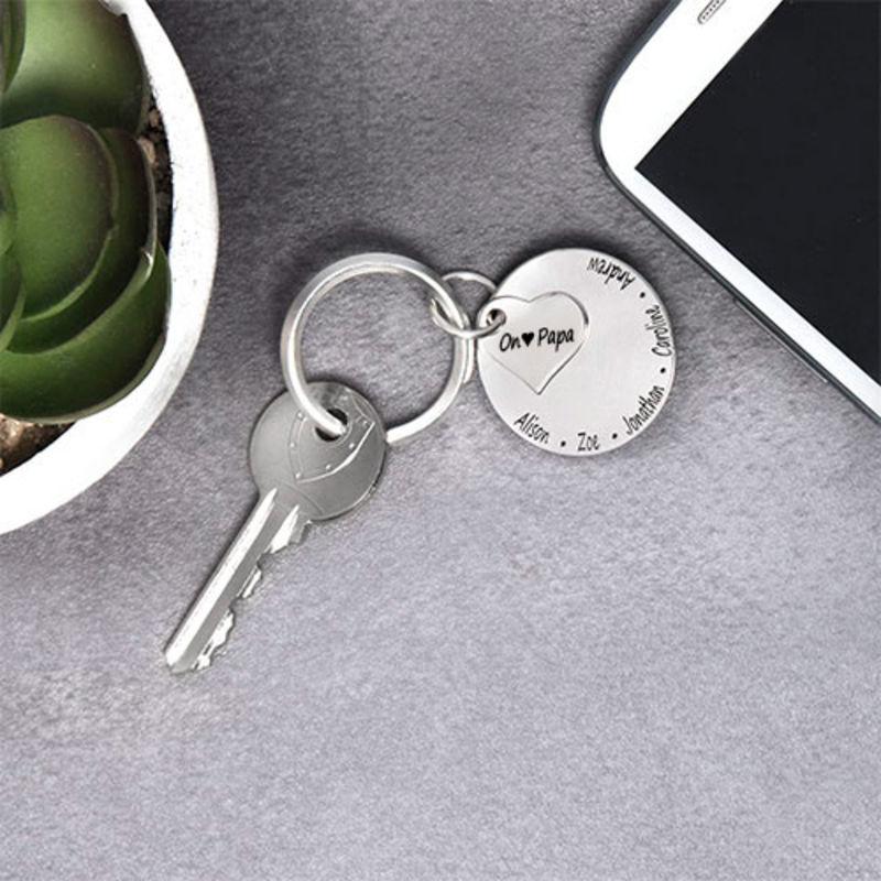 porte-clés Famille pour Toujours personnalisable - 2