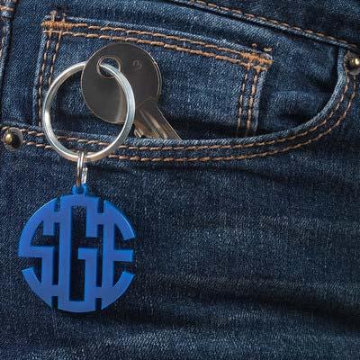Porte-clés Monogramme Bloc Couleur - 1