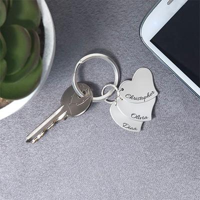 Porte-clés pendentif Cœur gravé - 1