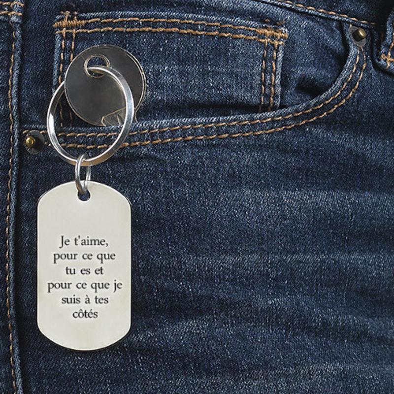 Porte-clé Plaque Militaire Gravée pour Homme - 2