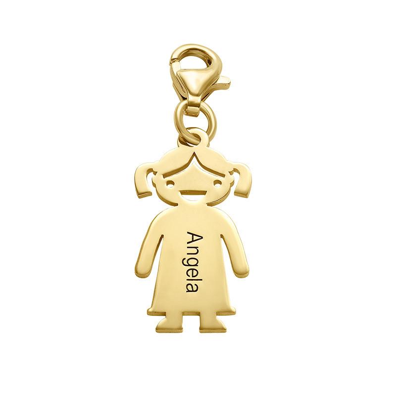 Petite Fille Gravée en plaqué or