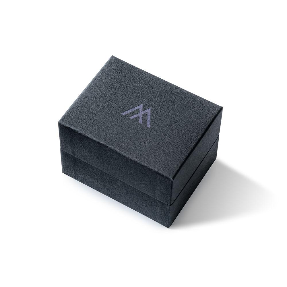 Montre Hampton minimaliste avec bracelet en cuir marron - Cadran Bleu - 8