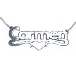 Collier Prénom avec pendentif Or coeur 14Ct photo du produit