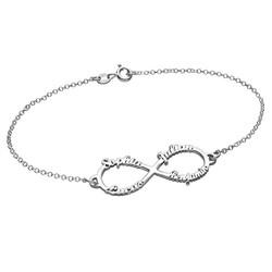 Bracelet Infini avec 4 prénoms photo du produit