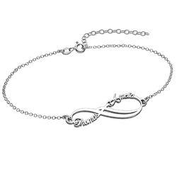 Bracelet Infini avec 2 prénoms photo du produit