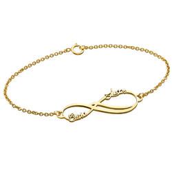 Bracelet Infini 2 prénoms en Or 14cts photo du produit
