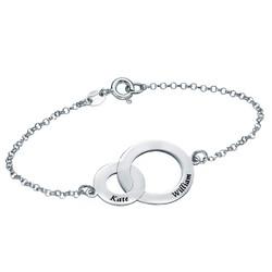 Bracelet Anneaux Entrelacés en Argent photo du produit