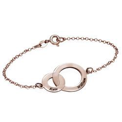 Bracelet Anneaux Entrelacés - Plaqué Or Rose photo du produit
