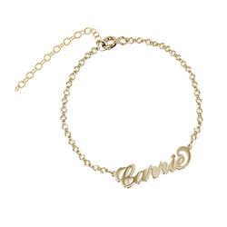 Bracelet Prénom style Carrie Bradshaw en Plaqué Or 18ct photo du produit