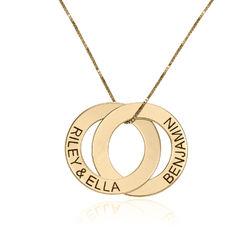 Collier avec 2 anneaux gravés en or 10 carats photo du produit