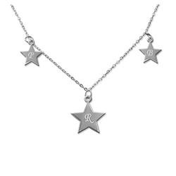 Collier Personnalisé avec pendentif 3 étoiles photo du produit