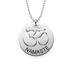 Collection Yoga - Collier Namaste Gravé en Argent photo du produit