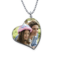 Collier Cœur avec photo photo du produit